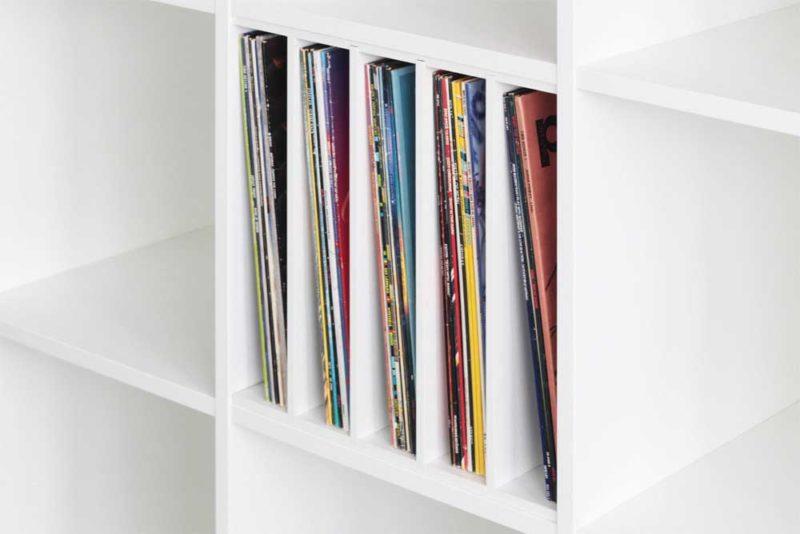 Stockage vinyles avec Ikea Kallax ou Expedit