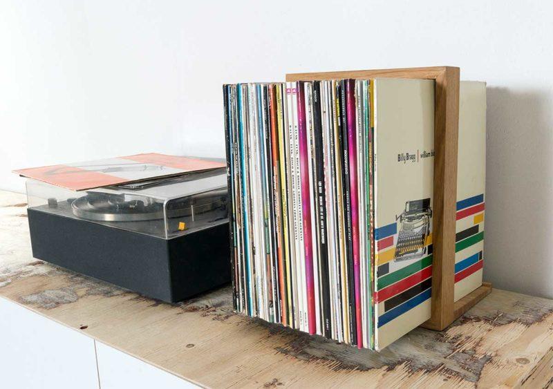 Support en bois pour vinyles
