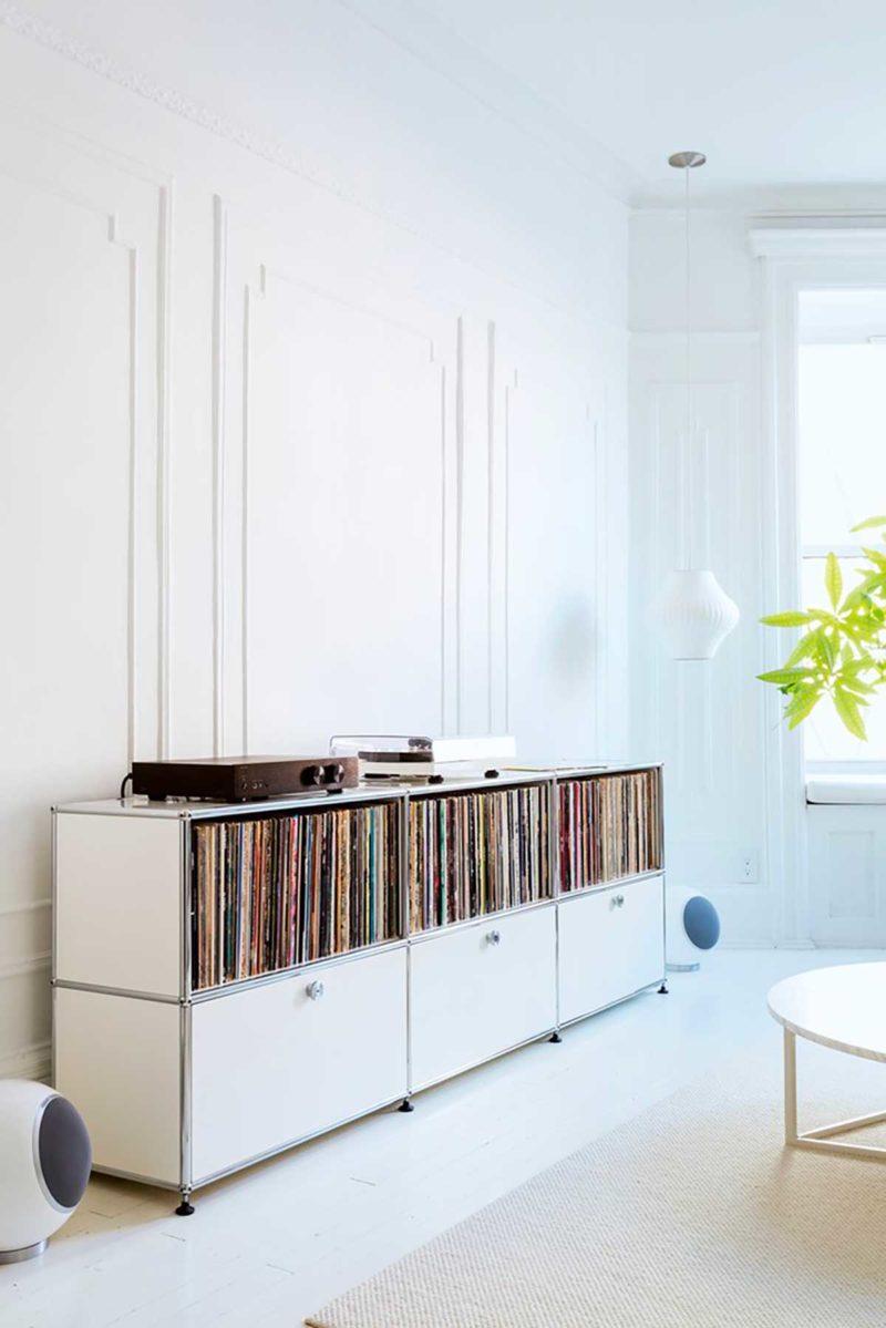 Vinyles rangés avec le système USM