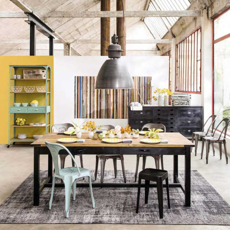 Table Industrielle 17 Idees Deco En Metal Et Bois