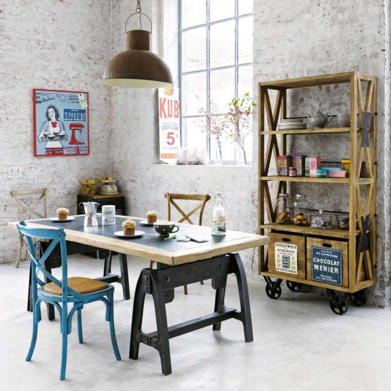 Table industrielle Maisons du Monde