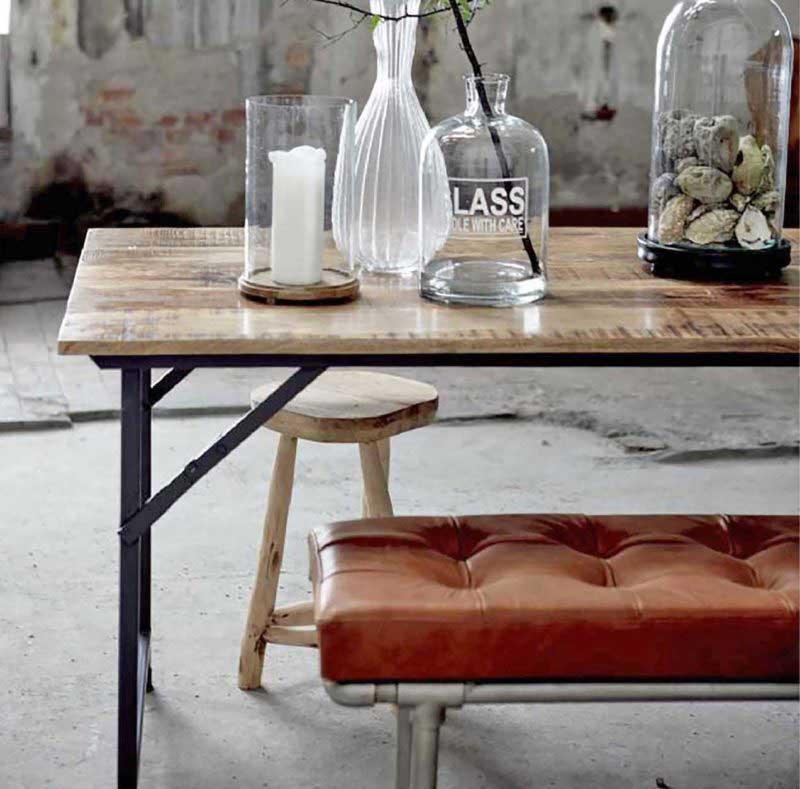 Table industrielle pliante
