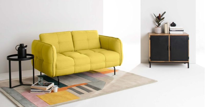 Canape design jaune made en soldes