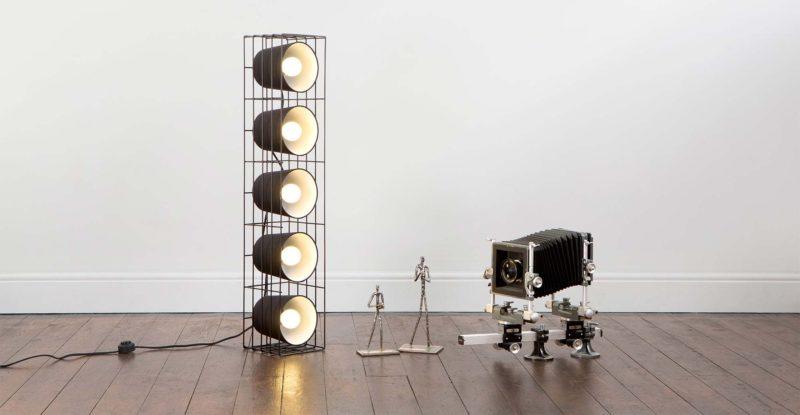 Lampe a poser au sol avec plusieurs ampoules made