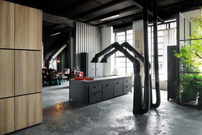 Hotte de cuisine industrielle Mammut