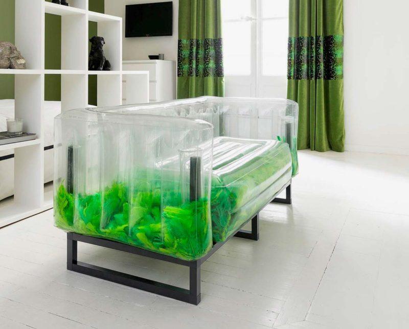 Canape gonflable transparent