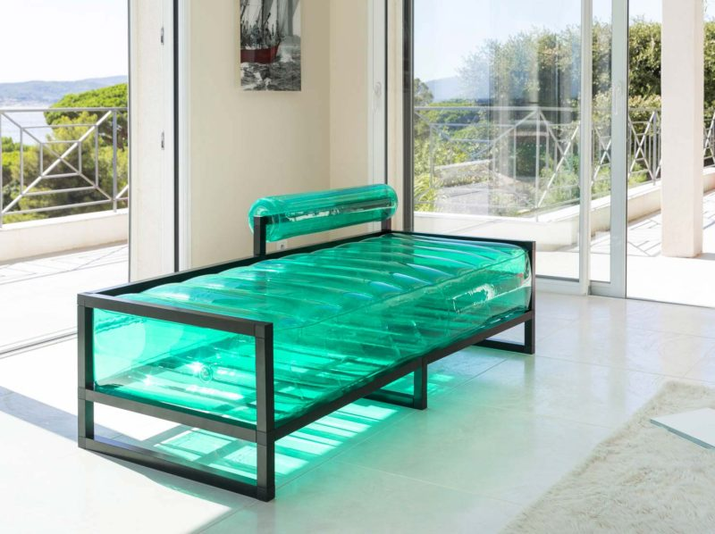 Canape gonflable vert