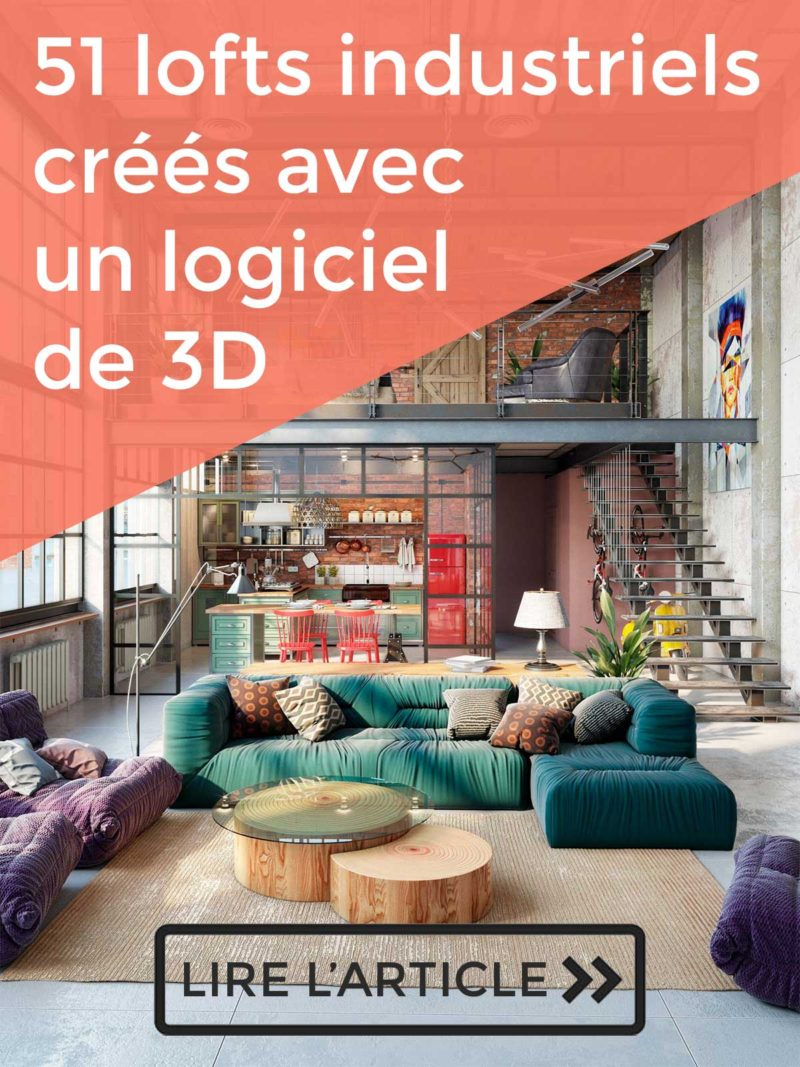 51 lofts industriels créés avec un logiciel de rendu 3D