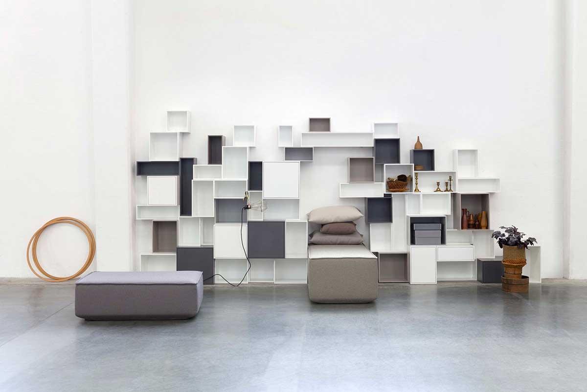 Meuble Tv Bibliothèque Blanc Étagère cube : 36 bibliothèques créées avec les modules cubit