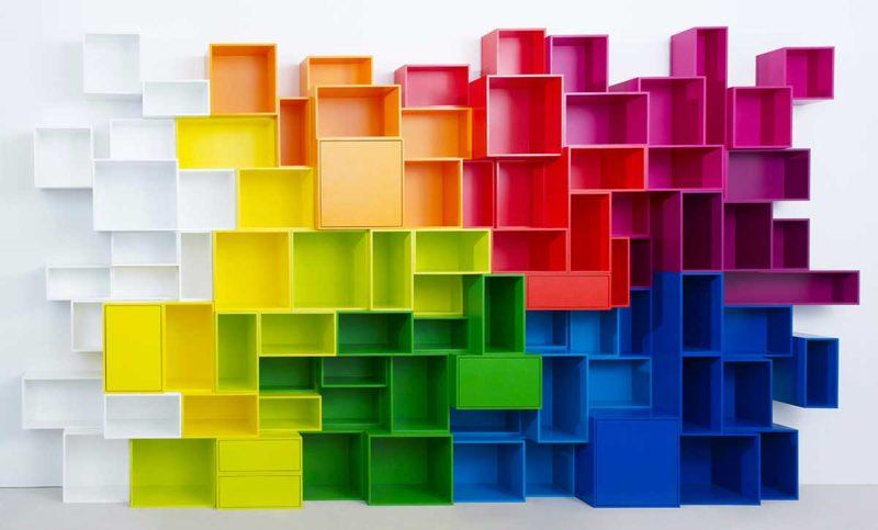 Étagère cube au design moderne