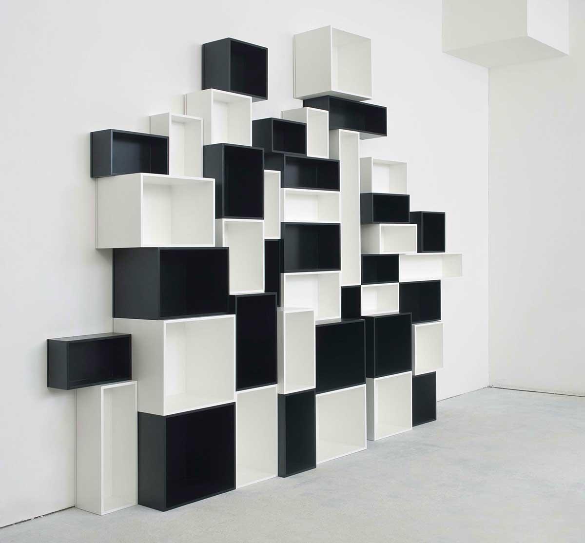 Étagère cube noir et blanch