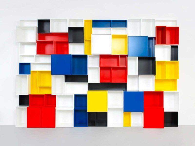 Étagère couleur Mondrian