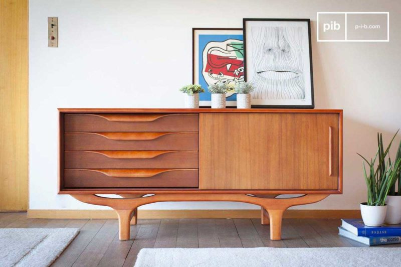 Buffet scandinave vintage en bois