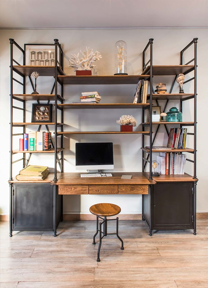 Bureau bibliothèque industriel