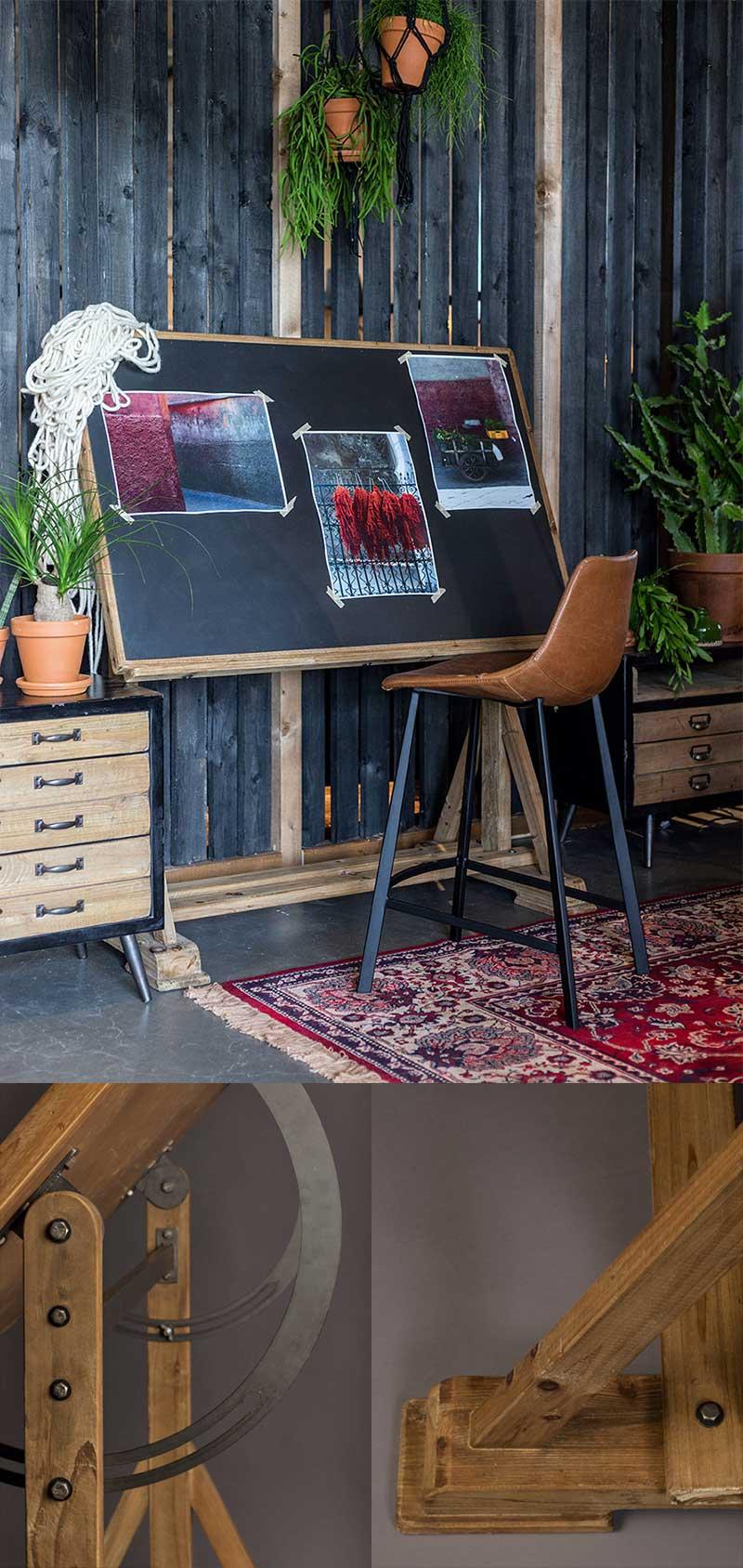 Bureau industriel table à dessin d'architecte