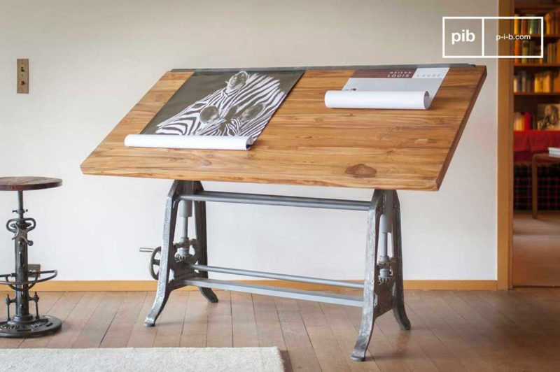Bureau industriel table d'architecte