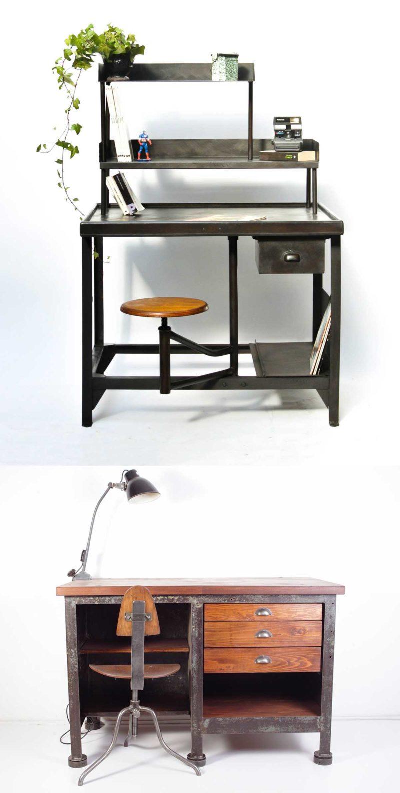 Bureau industriel vintage