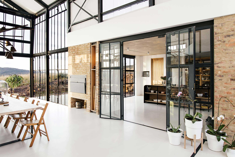 Style industriel pour une maison d'architecte
