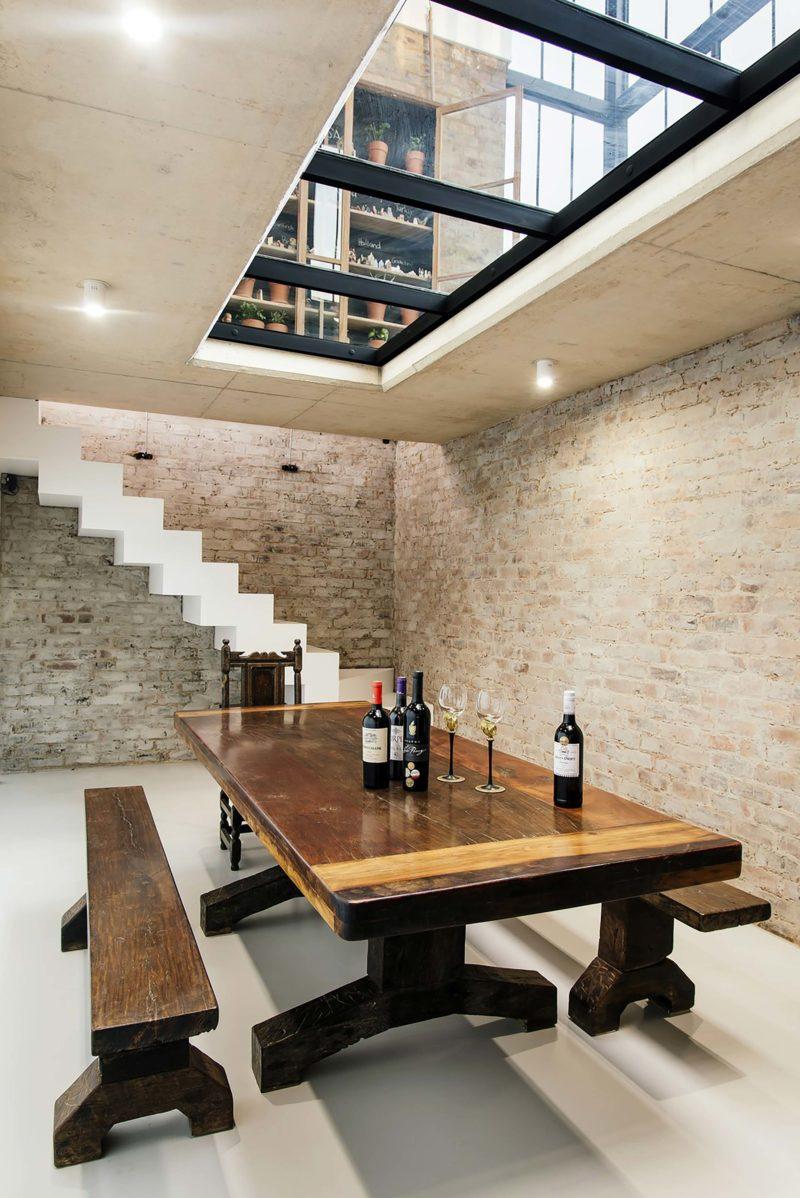 Cave à vin sous la cuisine