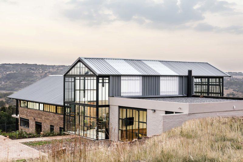 Maison d'architecte de style industriel