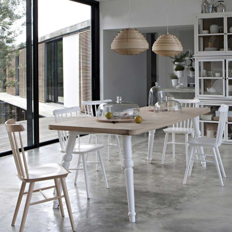 Chaise Et Table Scandinave Bois Blanc