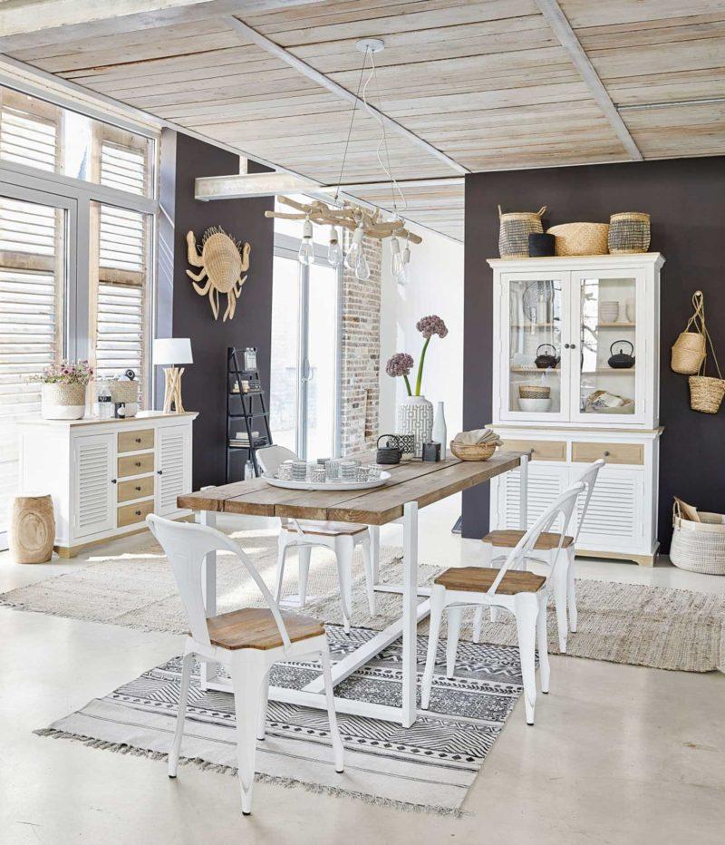 Chaise scandinave en métal