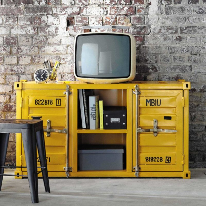 Meuble TV industriel original