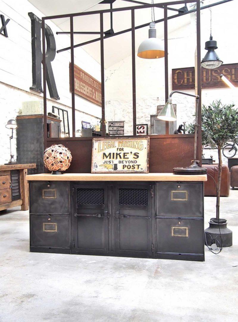 Véritable meuble tv industriel