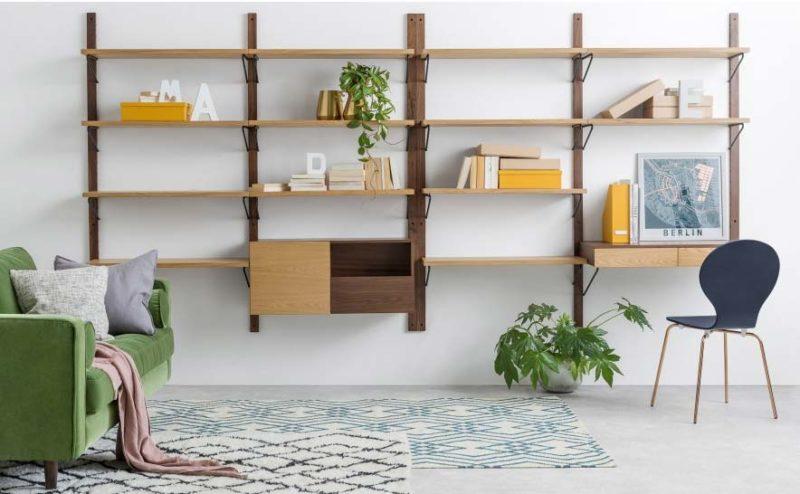 Bureau bibliothèque modulable