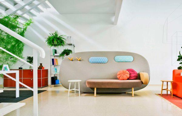Canapé original avec cloison pour séparer une pièce