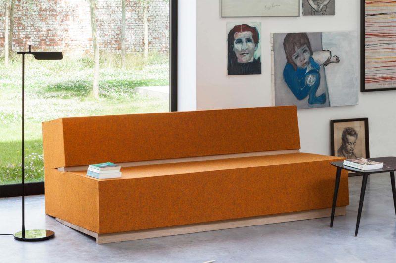 Canapé original au design brut