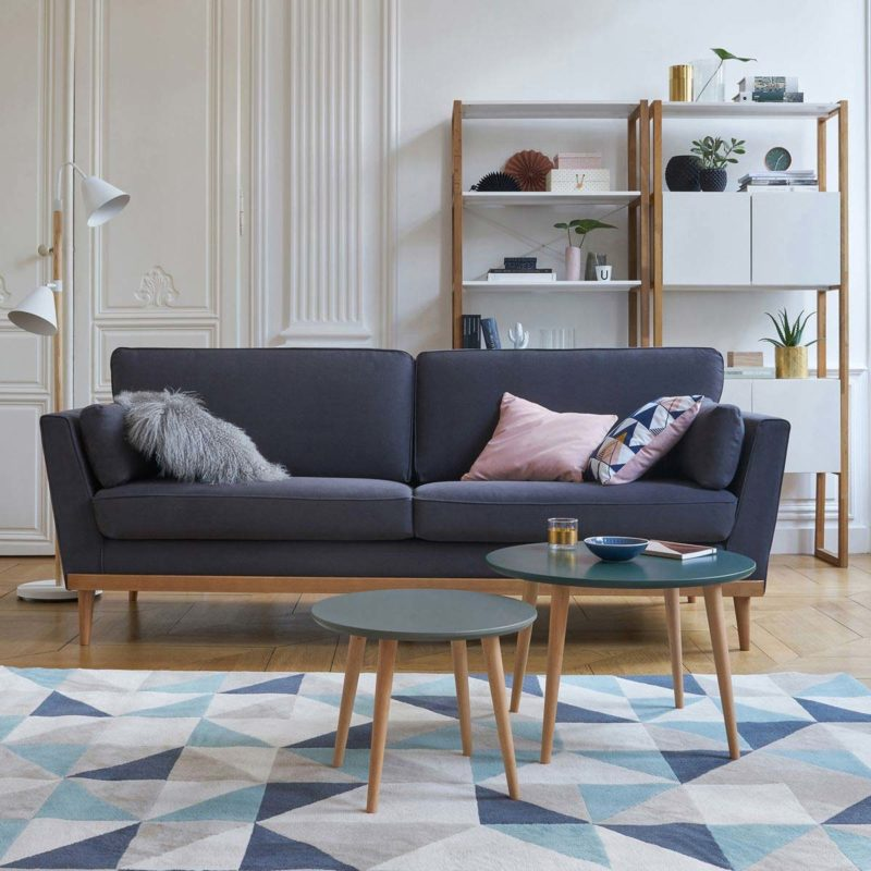 Canapé scandinave anthracite