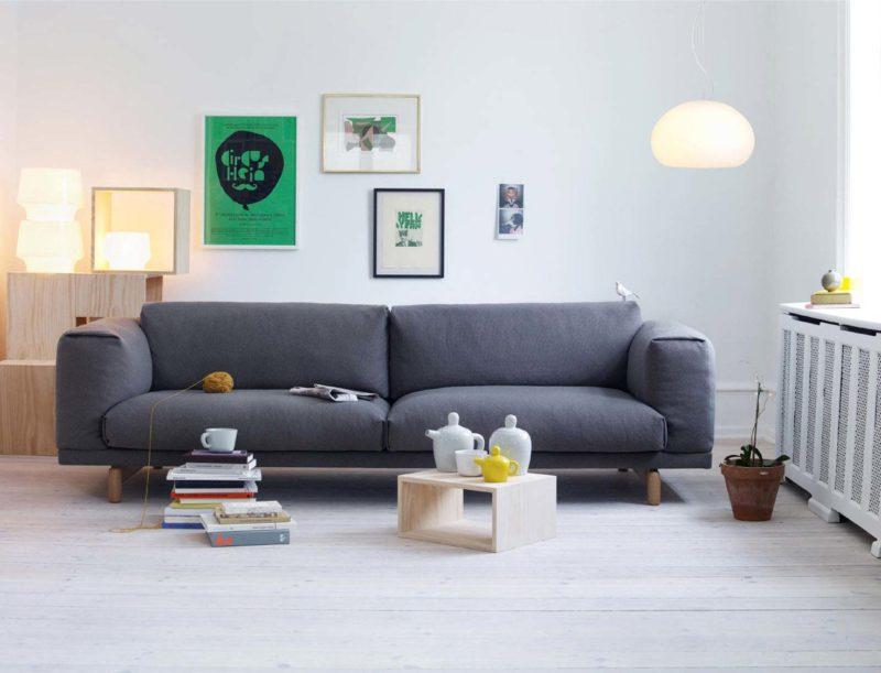 Canapé scandinave gris Muuto