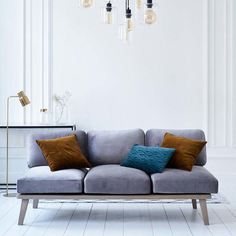 Canapé style scandinave déhoussable