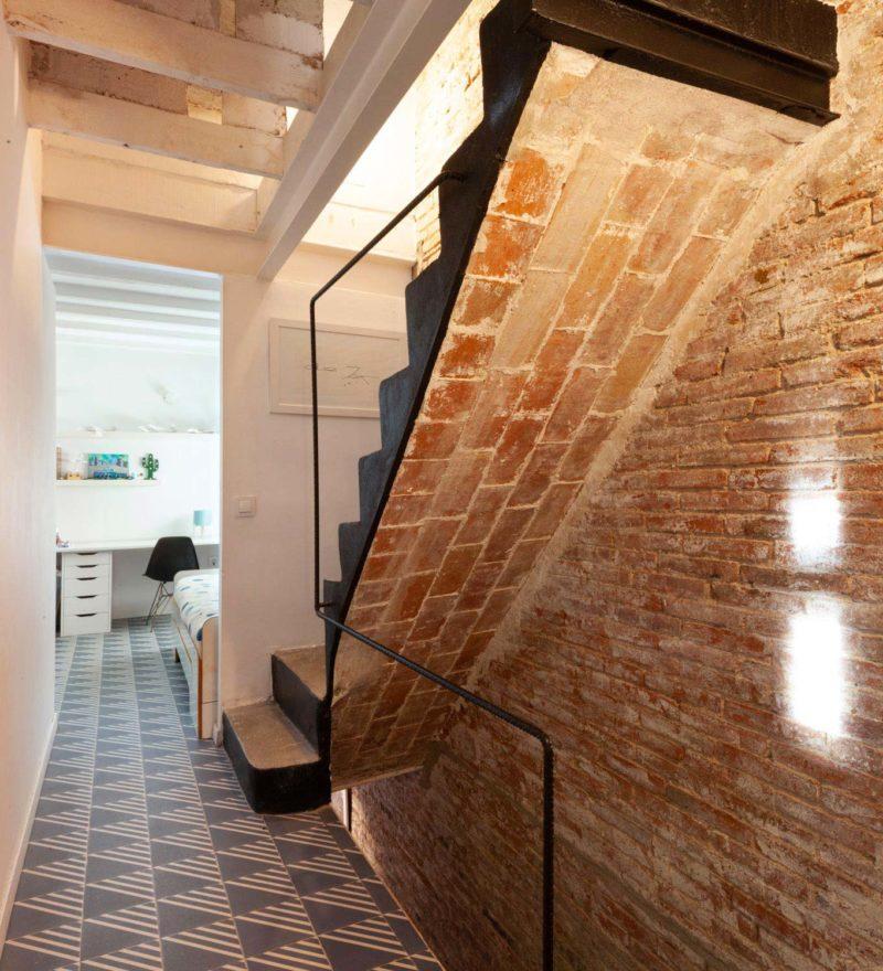 Escalier en briques