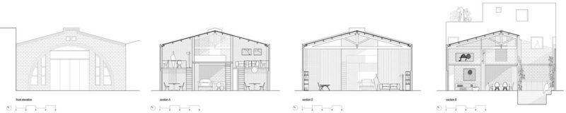 Plan du loft avec patio