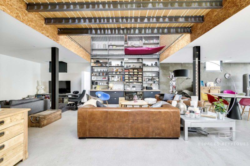 Filet d'habitation dans un loft