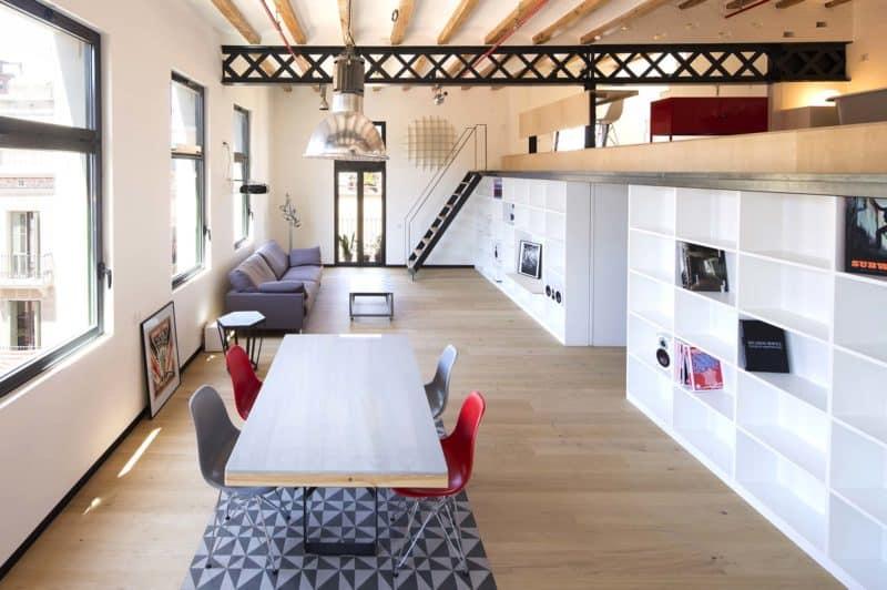 Loft barcelone meta studio apres travaux