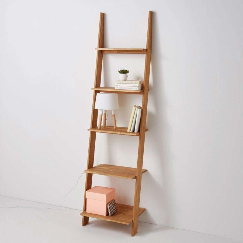 Petite étagère échelle en bois