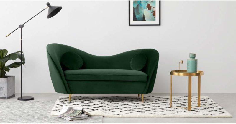 Canapé vert au design original
