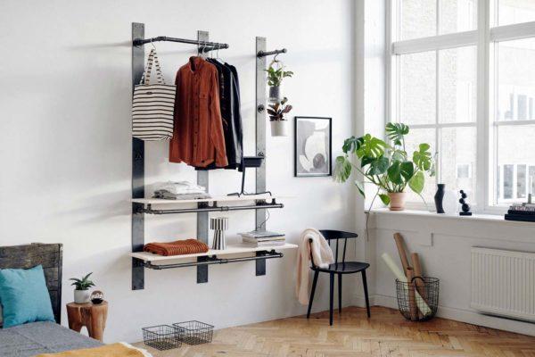 Dressing industriel en tuyaux esprit DIY