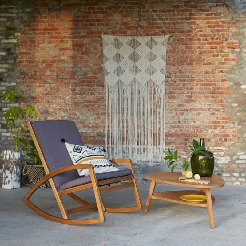 Rocking chair de jardin