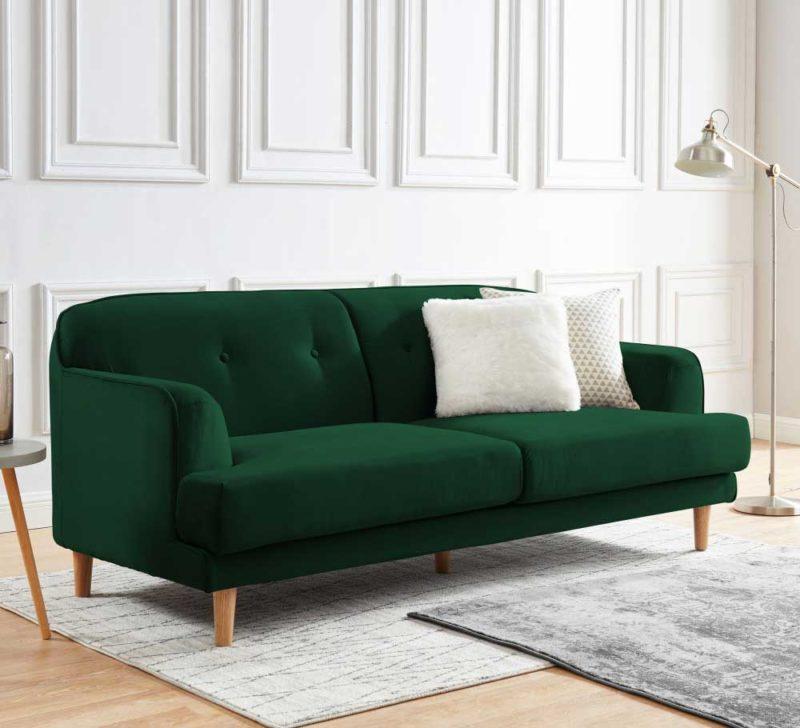 Canapé velours vert design