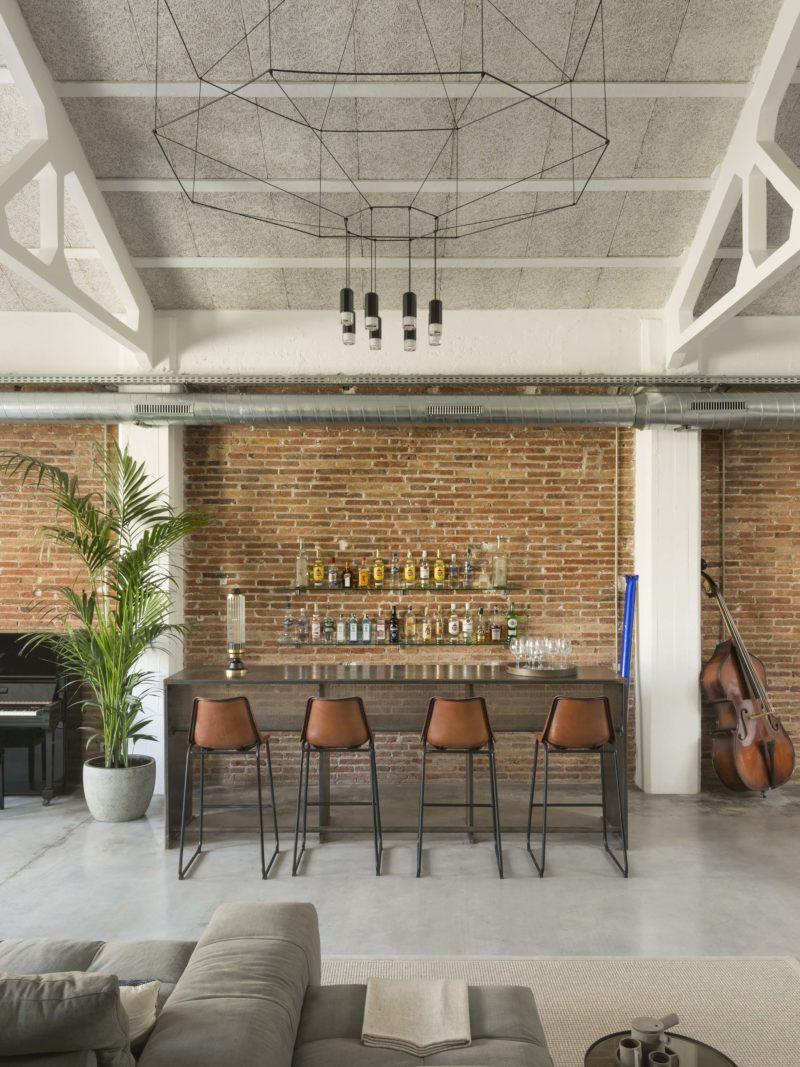 Bar dans un loft