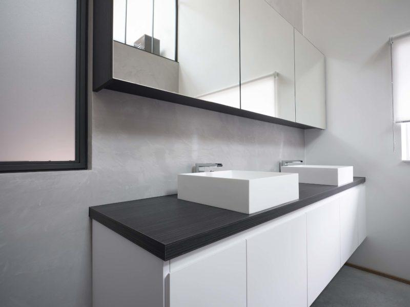 Meuble de salle de bains à deux vasques