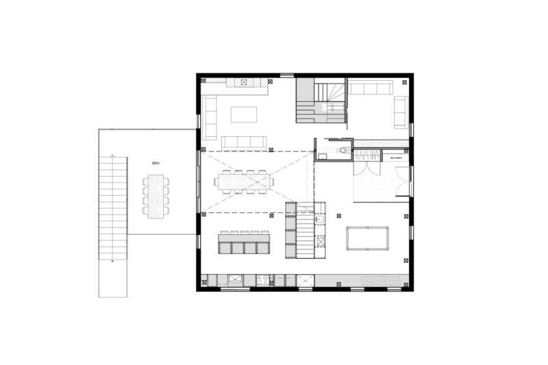 Plan de la grange transformée en habitation