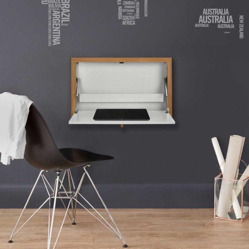 Petit bureau mural blanc