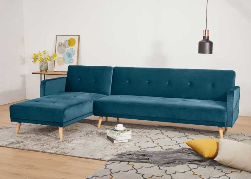 Canapé d'angle déco nordique