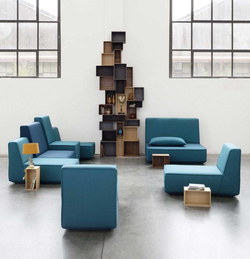 Canapé modulable bleu