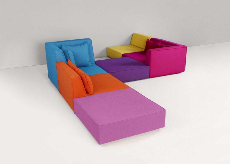 Canapé modulable avec double angle